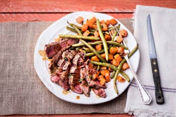 Pan-Seared Steak with Roasted Butternut Squash