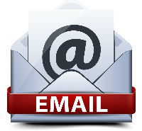 Email icon with symbol