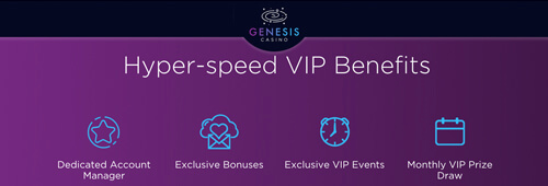 Qualify for Genesis Casino's VIP programme for great perks