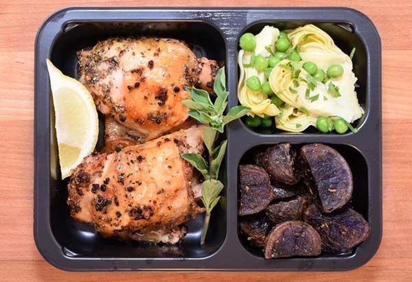 Chicken vesuvio by Factor 75