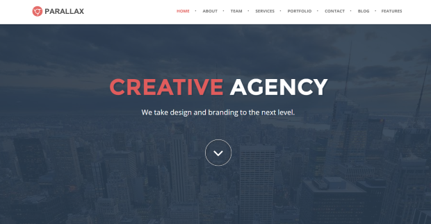 Weebly Parallax template home page