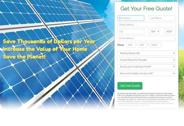 Get a free Solar4Less quote