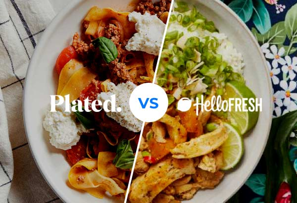 Plated vs HelloFresh - tasty meals compared