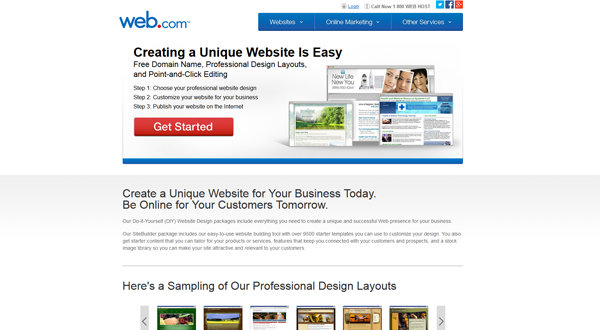 Web.com website builder