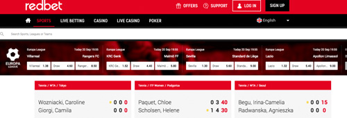 You can bet on almost every major sport at Redbet