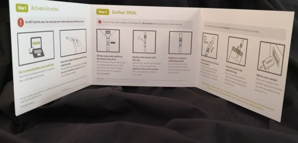 Ancestry instruction booklet