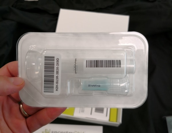 Ancestry DNA test container