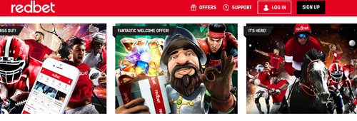 Redbet has a great selection of games and sports betting options
