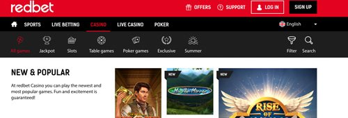 Don't miss your favourite games at Redbet