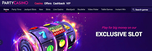 Party Casino is a slick spot to start your online gaming.