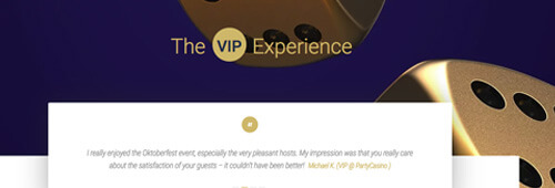 Join Party Casino VIP Experience