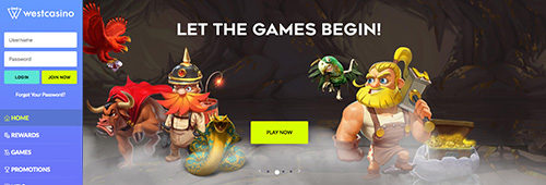 Start your online gaming at WestCasino