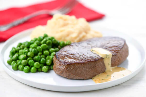 Home Chef Steak with Rosemary Cream
