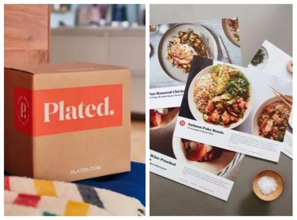 Plated meal kit boxes