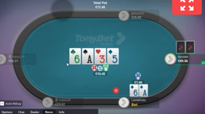 TonyBet's interactive poker tournament board is well worth checking out