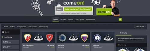 ComeOn! offer a great betting experience