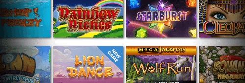 A range of games are available at Jackpot Jones