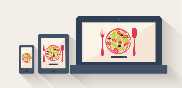 Graphic of food on mobile devices