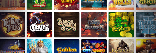 A range of slot games are available at Foxy Casino