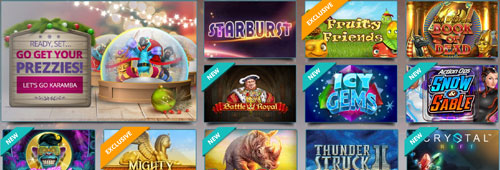 A range of slot games are available at Karamba