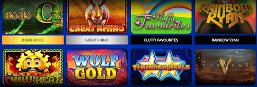 A range of casino games are offered at Spin Hill