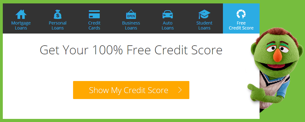 100% Free Credit Score with LendingTree