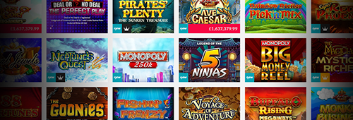 A range of games are available at Gala Casino