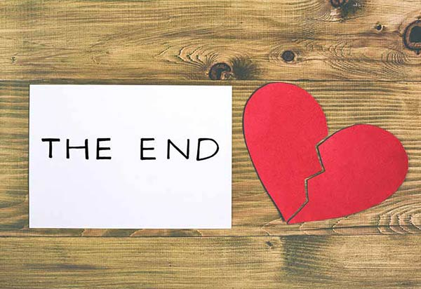 The end broken heart