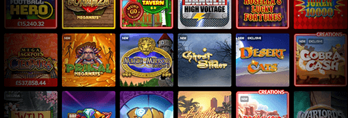 A range of games are available at Sky Vegas