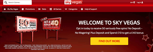 Start your casino experience at Sky Vegas today