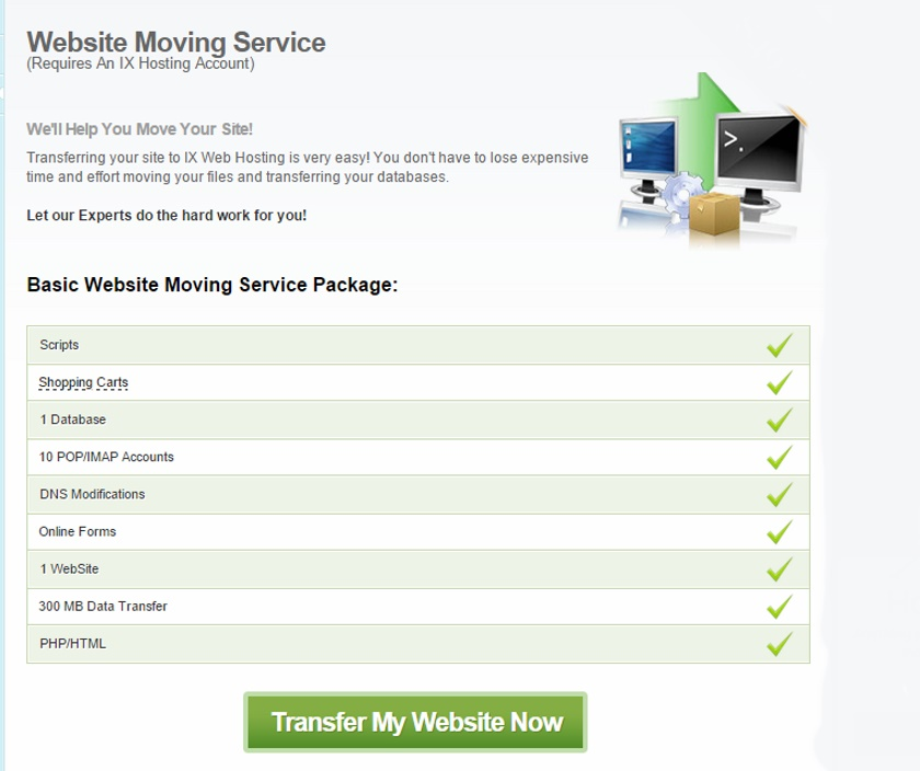 IX Web Hosting Features