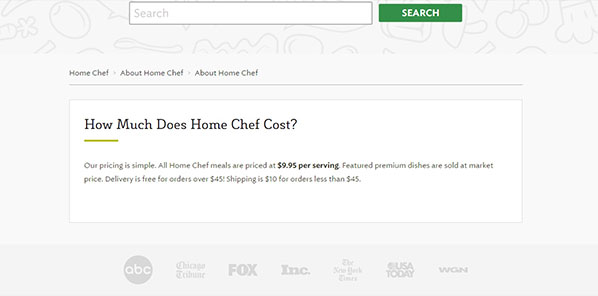 homechef is very affordable