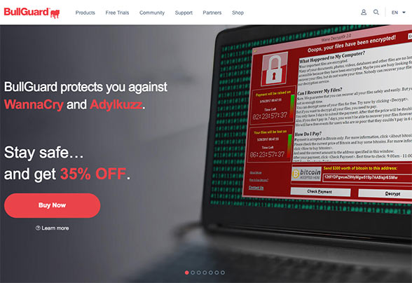 BullGuard can help protect you from ransomware