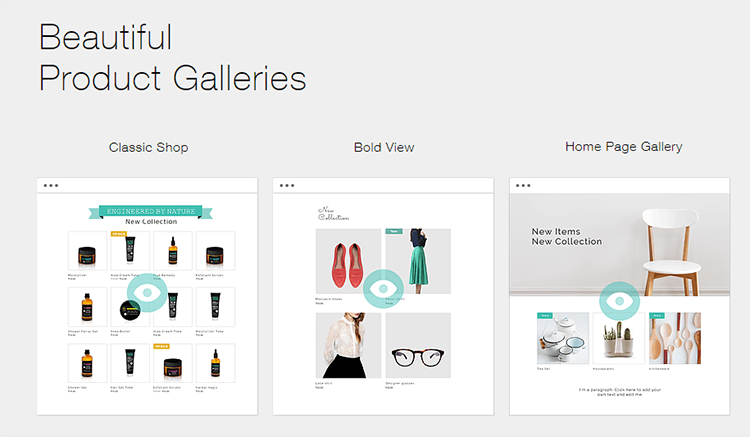 wix ecommerce gallery