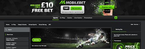 Start betting at Mobilebet today