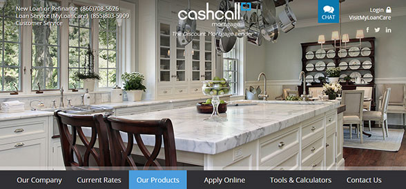 CashCall Mortgage specializes in low interest mortgage loans and home refinancing