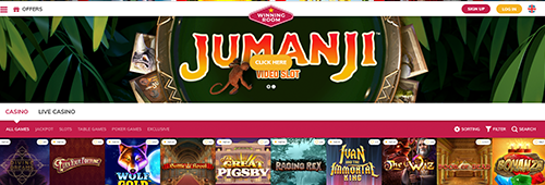 Start your online casino experience today with Winning Room