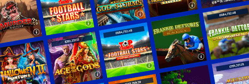 A range of games are available at William Hill Vegas