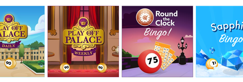 A range of exciting bingo games are available at Jackpotjoy