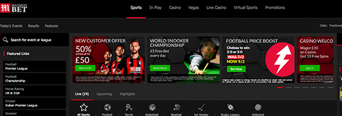 Start betting at Mansionbet today