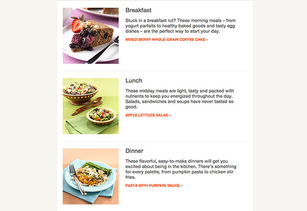 Mayo Clinic recipes