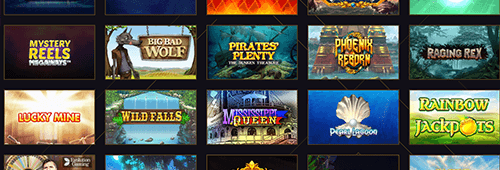 Play a range of casino games at 21Casino