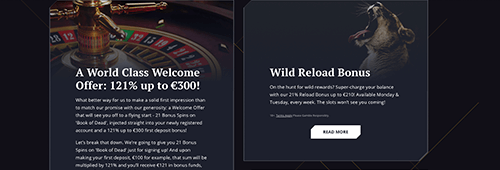 Join the VIP programme at 21Casino and take advantage of a range of promotions