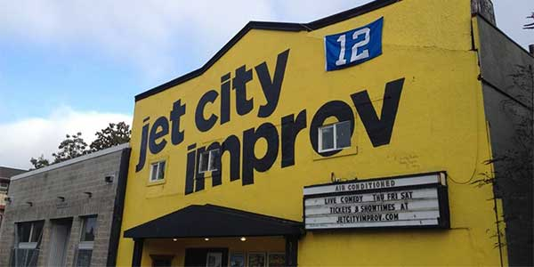 Fun idea for a date in Seattle at Jet City Improv