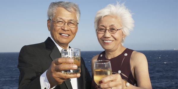 single seniors in Texas meet on a cruise