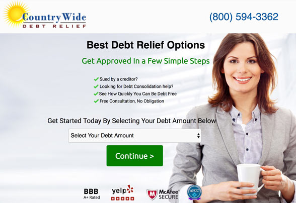 find your best debt relief options with coutrywide