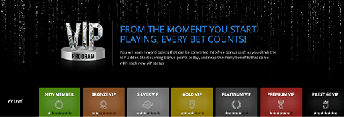 VIP Program. From the moment you start playing, every bet counts