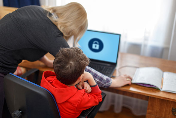 Use parental control to stay safe online