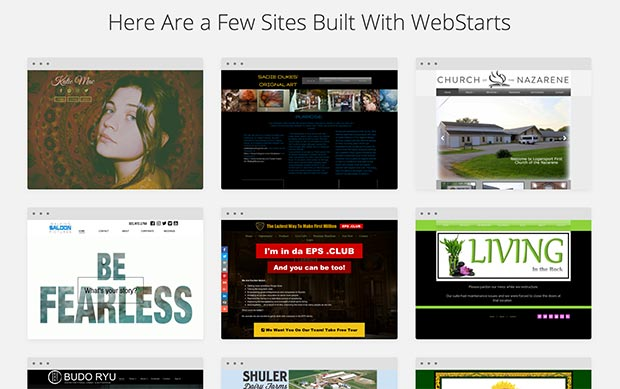 WebStarts has over 200 templates