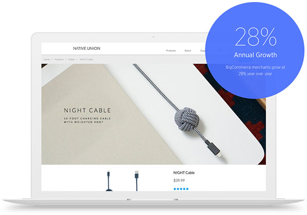 Build your ecommerce site with BigCommerce